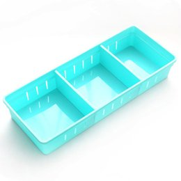 wholesale plastic compartment cases Promo Codes - Separate Compartments For All Kinds of Small Items Kitchen Cutlery Divider Case Adjustable Drawer Organizer Makeup Storage Box