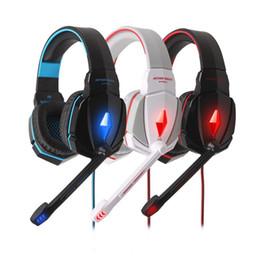 2019 KOTION EACH G4000 Casque de jeu stéréo avec lumières LED pour ordinateur portable PC Réglable Microphone Jeux Casque ? partir de fabricateur