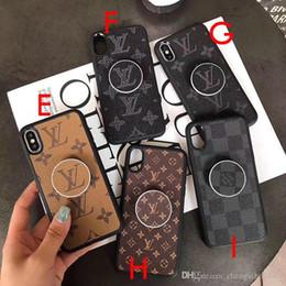capas iphone dobro claro Desconto 2019 nova marca design suporte mobile phone case capa para iphone xs max xr x 7 7 plus 8 8 plus 6 6 plus