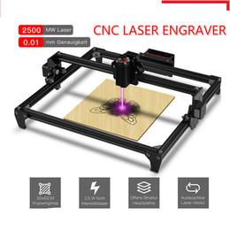cabeças de caneta a laser Desconto 30 * 40cm Mini 2500MW CNC Laser Engraving máquina 2Axis DIY gravador desktop Madeira Router / cortador / impressora + Laser Goggles