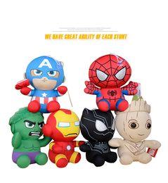 Çocuklar Doğum Hediyesi için 20cm Yumuşak Avengers Peluş Oyuncak Marvel Dolması Doll Avengers Film Bebekler nereden