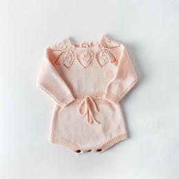 6b20506f811db 2019 bébé tricoter 2019 printemps bébé garçon fille Bodys Leaves tricoté  coton à manches longues salopette