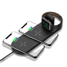 Multi auricolari online-Multifunzione 3-in-1 Wireless ABS vigilanza del caricatore del telefono mobile del caricatore per Apple auricolare di ricarica stand multifunzionale base di ricarica