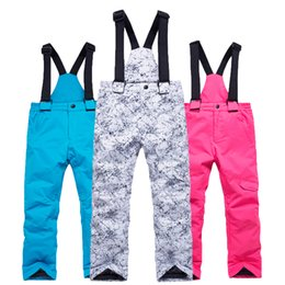 ce49fd9d0 Boys Girls Ski Pants Kids Snowboard Pants Outdoors Waterproof Windproof Winter  Kids Snow Children Winter Trousers