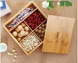 Canada Bambou et bois Noix chinoises Fruits secs Boîte Stockage d'aliments en vrac Boîte à bonbons en bois treillis avec couvercle Creative Papaya Snack Box cheap bamboo food cover Offre