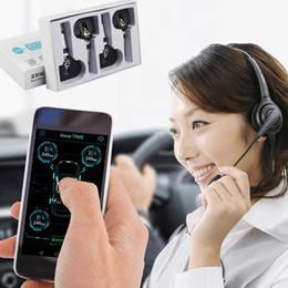 Bluetooth coche hud online-TPMS Bluetooth 4.0 Ahorro de combustible 4 HUD sensor interno / externo exposición de coches de presión de neumáticos TPMS Bluetooth WRTRST50