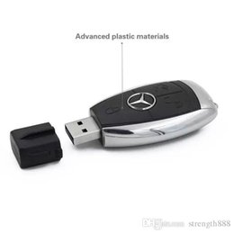 memoria flash usb de memoria de 128 gb Rebajas llaves del coche impulsión de la pluma de Mercedes-Benz la capacidad verdadera del 100% de alta calidad 32GB ~ USB 2.0 de 128 GB disco de U