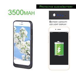 cargador portátil grande Rebajas Portable Power Bank 3500mAh Batería de gran capacidad Paquete de respaldo Cargador Funda protectora del teléfono para iPhone 6 / 6s