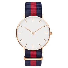 Nuevo 40mm Hombre Daniel Wellington Reloj Nylon Textil Correa Negocio Casual Marca de deporte Reloj de cuarzo DW desde fabricantes