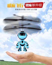 Vendita di luci online-velivoli induzione Giocattoli robot di ricarica luci mercato notte galleggiante bancarelle che vendono la durezza novità sulla sicurezza dei giocattoli giocattoli per bambini