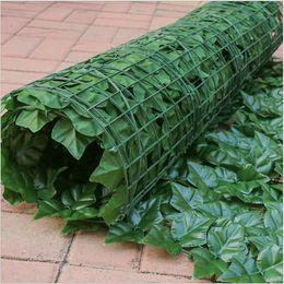 2019 recinzione di piante plastiche 3 metri di siepe di siepi artificiali Privacy Ivy Fence Outdoor Garden Shop Pannelli decorativi in traliccio in plastica sconti recinzione di piante plastiche