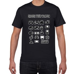 Wholesale Silahınızı Seçin Gamer Yenilik Video Oyunları Alaycı Mens Komik Tişörtlü oyunu fan Game Controller streetwear erkekler tshirt erkekler