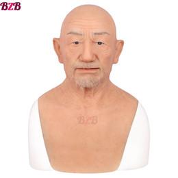 máscara dos homens velhos Desconto Velho William boa qualidade máscaras de silicone realista, velho mascarada para o Dia da Mentira cabeça cheia adereços Tricky