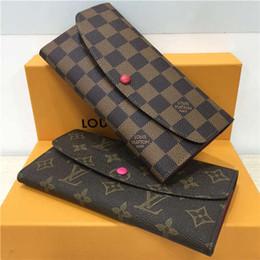 2019 scatola elegante del regalo del regalo borse di design designer frizione portafoglio borse borse donna portafogli tracolla designer borsa titolare della carta in vera pelle con scatola A4145