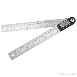 angle électronique Promotion Affichage numérique numérique échelle échelle en acier inoxydable Inclinomètre angles règle universelle carré outil de travail du bois précis Vente chaude 45fy E1