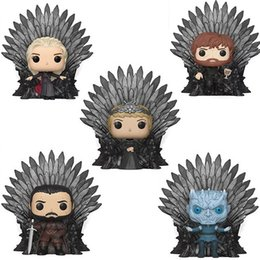 funko pop spiel Rabatt Game of Thrones Action-Figuren Sittinhg Position Eisenthron Funko POP-Abbildung Modell Kinder Spielzeug