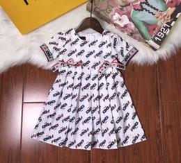 battesimo bambino avorio Sconti 2019 nuove ragazze in cotone abito cinturino vestito da moda principessa party dress regalo di compleanno T-shirt a maniche corte camicia di qualità
