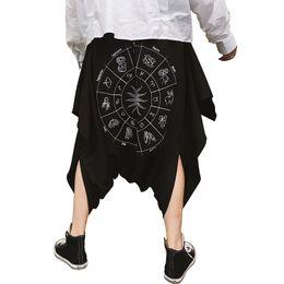 pantalon punk épais Promotion Discothèque DJ chanteur punk rock hip hop sarouel pantalon noir baisse crotch costume de scène mens style gothique street wear joggers