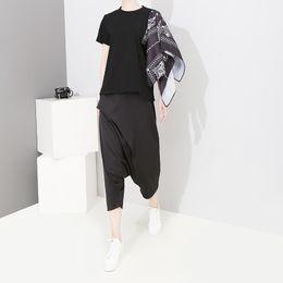 Nouveau 2019 Style coréen Femmes D'été Tee Top Une Épaule Avec Extra Partie Imprimée Femme Unique Porter Élégant T-shirt T-shirt F354 ? partir de fabricateur