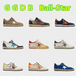 Branding tennisbälle online-Italien Deluxe MarkeGGDB Ball-Stern-Goldsuperstar Goose Sneakers Tennis Männer / Frauen GGDD GDB Retro Do alte Sport-beiläufige Schmutzige Schuhe