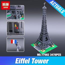 2019 construir torre eiffel DHL LEPIN 17002 3478 unids La Torre Eiffel 10181 Juguetes Modelo de construcción conjunto Bloques de Ladrillo Niños Juguetes Educativos Regalos de Navidad rebajas construir torre eiffel