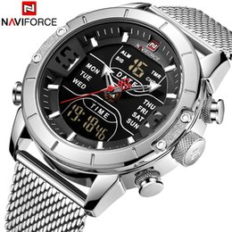 2019 серебряная зона NAVIFORCE Mens Watches Top  Mesh Steel Multiple Time Zone Waterproof Watch For Men Silver Watch Relojes Para Hombre дешево серебряная зона