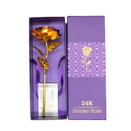 24k Folie vergoldet Rose Gold Party Favors Rose Hochzeitsdekoration Valentinstag Geschenk ohne Sockel von Fabrikanten