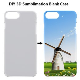 3d sublimation plastik online-DIY 3D Sublimation Glossy Plastic Blank Hülle für iPhone 6 7 8 Plus Samsung Galaxy S10
