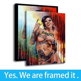 nude girls oil paints Promo Codes - Art Sexy Nudes Girls Oil Painting Bedroom Wall Decor Canvas HD Print Figure Painting - Ready To Hang - Framed