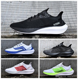 2019 AR ZOOM GRAVIDADE homem sapatos ar ZOOM 37 tênis esportivos casuais ao ar livre grande logotipo walking shoe Branco Preto Azul tamanho 40-45 de