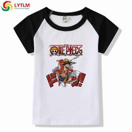 un pezzo di anime di t shirt Sconti LYTLM One Piece T Shirt Bambini Monkey D b51a7aa351d2