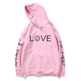 liebe rosa schwarzer hoodie Rabatt Lil Peep Hoodies Liebe Lil.peep Männer Sweatshirts Mit Kapuze Pullover Männliche Frauen Schwarz Rosa Hip Hop Streetwear Grau für Weibliche Hoddie