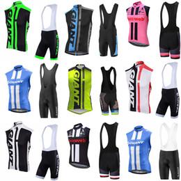 chalecos personalizados Rebajas Equipo GIGANTE Ciclismo Jersey sin mangas Chaleco (babero) conjuntos cortos Mejor venta de equipos de ciclismo de bicicleta de montaña para exteriores personalizados c2115