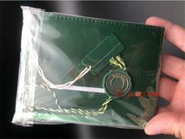 смотреть оригиналы бесплатно Скидка Бесплатная доставка 5 шт. топ роскошные часы зеленый GMT оригинальный футляр документы 116710 116719 подарочные часы коробки кожаный мешок карты для часы Box бумаги