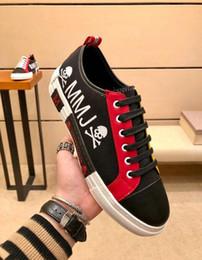 2019 pattini del pattino Scarpe Giappone di lusso di alta qualità Sneakers uomo Stringate Skull MMJ Mastermind Scarpe di tela Espadrille 38-44 pattini del pattino economici
