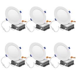luminárias embutidas no teto Desconto Estoque Nos EUA-15 W 6 Polegada LEVOU Slim Downlight com Caixa de Junção 15 W = 120 W 1125LM 3000 K Quente Branco Dimmable Recesso Luminária de Teto