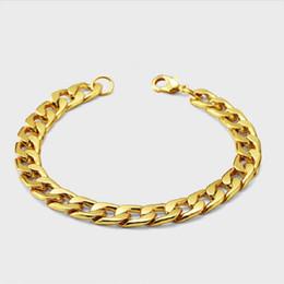 Design de Mode Homme Cubain Chaîne Bracelets Hip Hop Or Couleur Bijoux Punk Remplissage Pièces Hommes Bracelets Cubains Pour Hommes 22cm Long ? partir de fabricateur