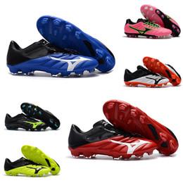 Tacos de fútbol rosa amarillo online-Altura Calidad Mizuno Rebula V1 Hombres Zapatillas de running Azul Rojo Amarillo Rosa Zapatillas de fútbol de diseño Botines BASARA AS WID Trainer Sneakers
