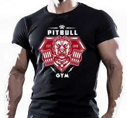 c43cdea33 PITBULL GYM TRAINING BODYBUILDING MOTIVATION T-Shirt MMA WORKOUT CLOTHING  TOP knitted comfortable street style Men Classic Casual T Shirt