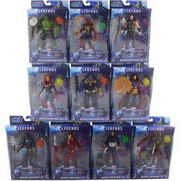 10 unids / set Marvel Toys The Avengers Figura con superhéroe led Batman Thor Hulk Capitán América Figura de Acción Modelo de Colección Muñeca desde fabricantes