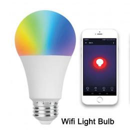 lampadine a buon mercato a buon mercato all'ingrosso Sconti Lampadina a LED intelligente Lampada a risparmio energetico Wifi Controllo APP per telefono cellulare E27 9w AC100-240V Casa intelligente