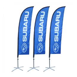 bandiere promozionali Sconti Bandiera della piuma promozionale all'aperto portatile di 3.5m con singola o doppia bandiera di stampa Borsa portatile trasportabile della base trasversale d'acciaio durevole dell'insegna