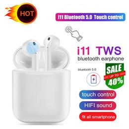 Canada Nouveau i11 TWS True Écouteurs V5.0 Bluetooth Sans Fil Écouteurs Mini Écouteurs Airpods Avec Boîte de Recharge pour téléphone X 8 9 plus Samsung S9 S10 Offre