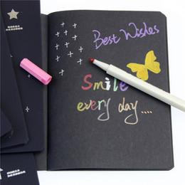 Pintando folha negra on-line-Hot Sketchbook Diário Desenho Pintura Graffiti Preto Papel 28 Folhas Caderno Ketch Livro Escola Suprimentos Como Presente C19041901