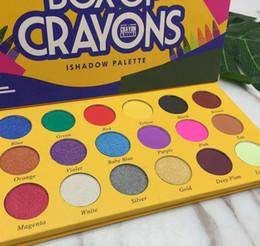 Caja de paleta online-Caja de crayones paleta de maquillaje de sombra de ojos ishadow 18 color crayola sombra de ojos la caja de lápices de colores sombra de ojos Shimmer Matte impermeable