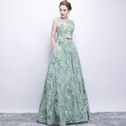 vestido verde fresco Desconto Vestido de noite elegante com faixa árabe Dubai verde fresco Lace mangas compridas vestido de baile Aibye festa Formal Vestidos Robe De Soiree