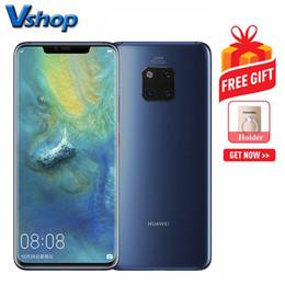 Wholesale Huawei Mate Pro Go Go Version Chine Appareils photo à dos triple Batterie mAh Batterie D Identification du visage pouces EMUI9 Bleu saphir