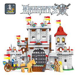 Canada AUSINI 27110 Knights castle series série de blocs de construction ensemble Enfants DIY Éducatif Créatif Modèle Briques Jouets pour enfants cheap ausini building block Offre