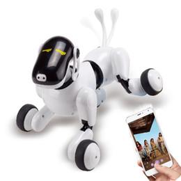2019 голосовые команды приложение управления робот собака игрушка электронный питомец забавный интерактивный беспроводной пульт дистанционного управления щенок умный RC робот собака от Поставщики летучая рыбная игрушка оптом
