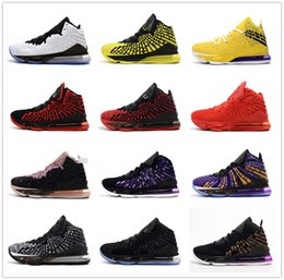 james shoes white black Promo Codes - Lebron 17 Black White Equality Oreo Bred Men Basketball Shoes James 17s Zoom Yellow Purple Red Mens Designer Sports Sneakers Trainers